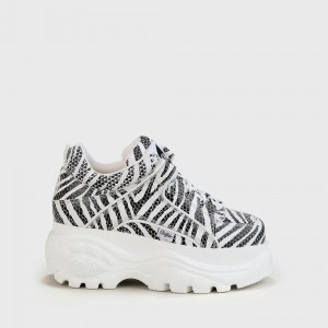 Buffalo London Buffalo Classic Low nappa leather zebra