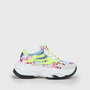 Buffalo London Eyza Sneaker Leather white/leopard/multi