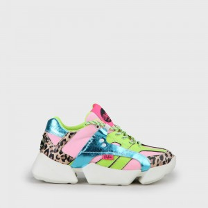 Buffalo London MTRCS One Sneaker Leather neon yellow/neon pink