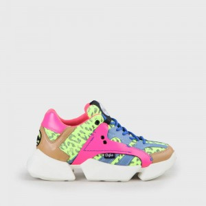 Buffalo London MTRCS One Sneaker Leather neon yellow