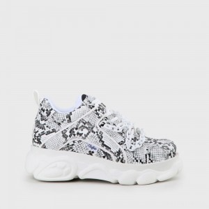 BUFFALO Jaded x CLD Corin Sneaker snakeskin off-white