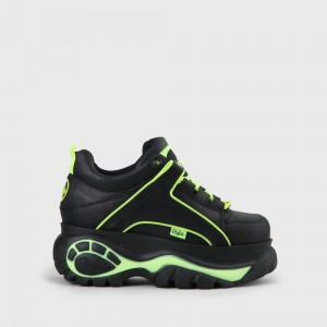 Buffalo London Buffalo Classic Leather Black / Neon Yellow