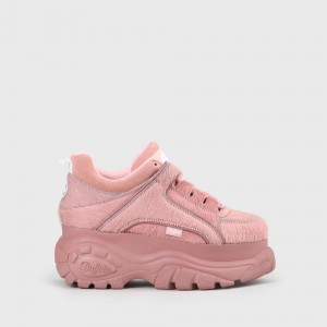 Buffalo London Buffalo Classic Sneaker Fur Pink