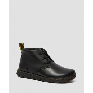 RHODES MEN'S LEATHER CHUKKA BOOTS - BLACK BERKLEY