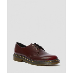 VEGAN 1461 OXFORD SHOES - CHERRY RED OXFORD RUB OFF