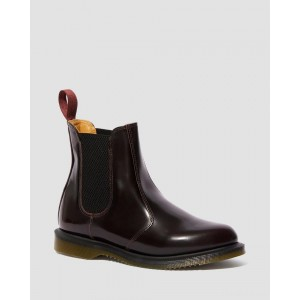 FLORA WOMEN'S ARCADIA LEATHER CHELSEA BOOTS - CHERRY RED ARCADIA