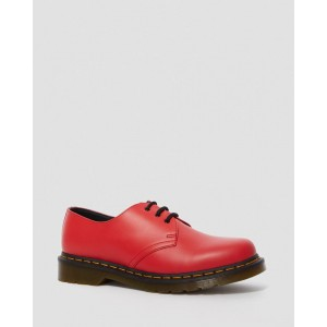 1461 SMOOTH LEATHER OXFORD SHOES - RED  SMOOTH