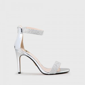 Frigga Sandal Faux Leather Silver