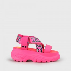 Bo Sandal Leather neon pink
