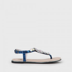 Jennifer Sandal blue