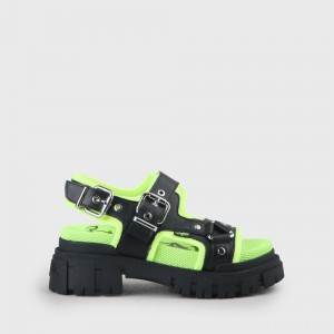Jojo Sandal black/neon yellow
