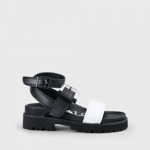 Jimena Sandal black/white