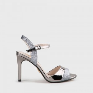 Aida Heeled Sandal grey