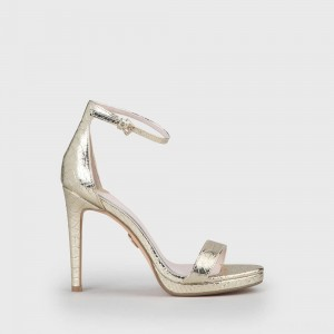 Janna Heeled Sandal gold