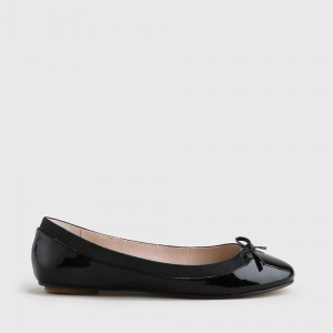 Annelie ballerina patent leather black
