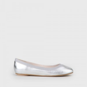 Annelie 2 ballerina leather silver