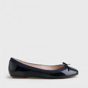Annelie ballerina patent leather navy