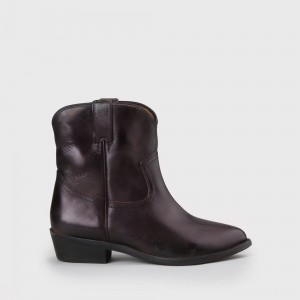 Fam Ankle Boot suede dark brown