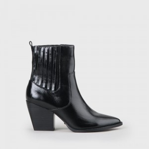 Ferry Ankle Boot smooth leather black