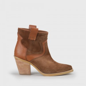 Jodie ankle-boot leather cognac
