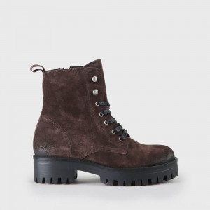 Shadow Lace-Up Boot suede brown