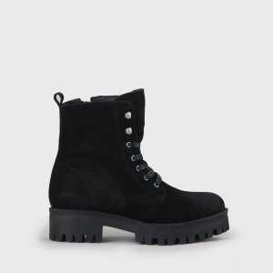 Shadow Lace-Up Boot suede black