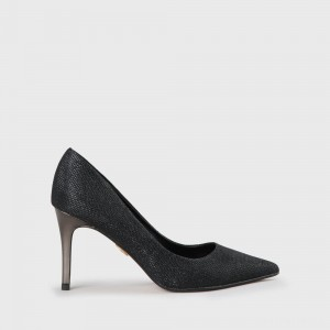 Fanny Pump Faux Leather Black