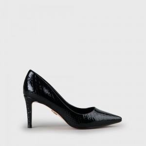 Fanny 2 Pumps snake metallic black