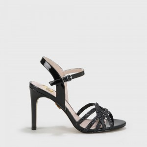 Afterglow sandal metallic black