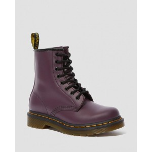 1460 WOMEN'S SMOOTH LEATHER LACE UP BOOTS - PURPLE SMOOTH