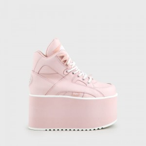 Rising Towers High nappa leather pink