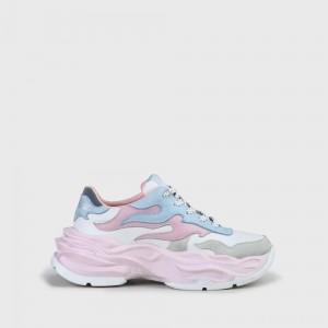 Eyza Sneaker Leather white/pink/light blue