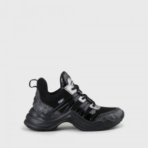 Cavi Sneaker faux leather black