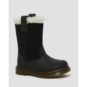 TODDLER JUNEY FAUX FUR LINED TALL BOOTS - BLACK REPUBLIC WP+HI SUEDE WP