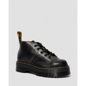 CHURCH PLATFORM MONKEY BOOTS - BLACK VINTAGE SMOOTH