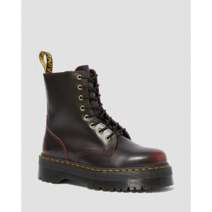 JADON ARCADIA LEATHER PLATFORM BOOTS - CHERRY RED ARCADIA