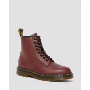 1460 SLIP RESISTANT LEATHER LACE UP BOOTS - CHERRY RED INDUSTRIAL FULL GRAIN