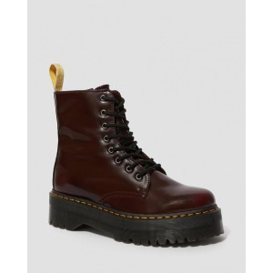 VEGAN JADON II PLATFORM BOOTS - CHERRY RED OXFORD RUB OFF