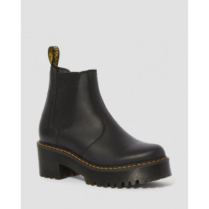 ROMETTY WOMEN'S LEATHER PLATFORM CHELSEA BOOTS - BLACK BURNISHED WYOMING