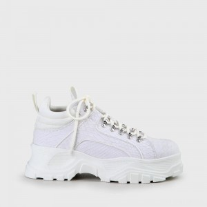 BUFFALO Men Fina Lace-Up Sneaker white